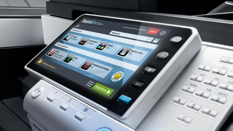 Digitalización certificada en equipos multifunción