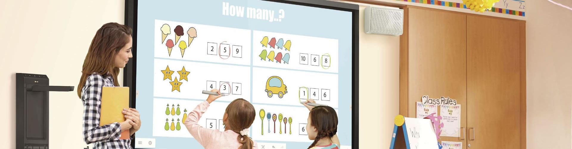 Soluciones de enseñanza interactiva para Educación de primaria y secundaria