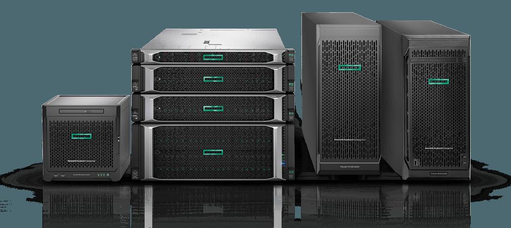 instalación de un rack, dos servidores y una cabina de almacenamiento